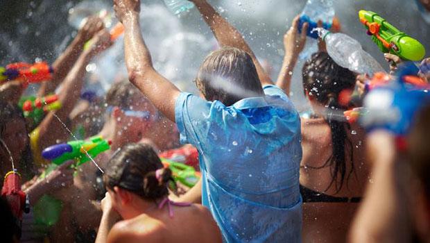 Imagen de la Fiesta del Agua en Lanjarón